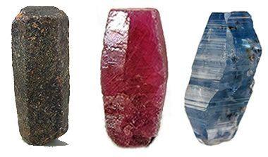 Cristales de corindón