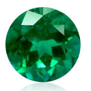 Esmeralda con talla brillante