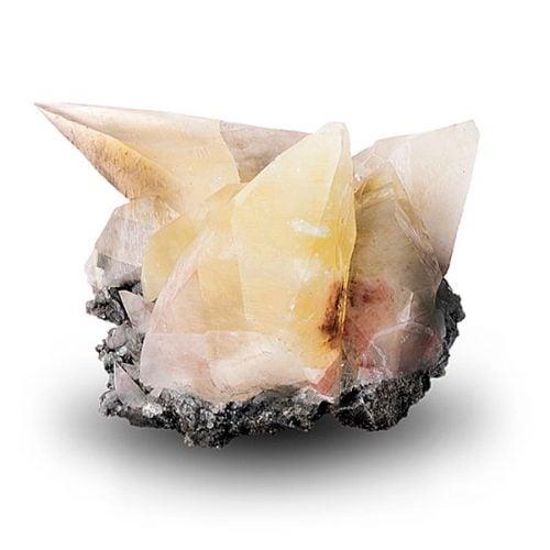 Foto cristales de calcita diente de perro