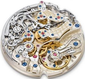 Maquinaría de reloj con rubís