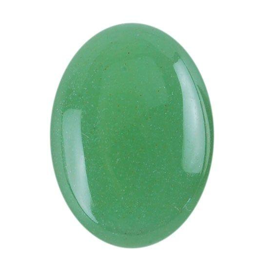 Cabujón de venturina verde
