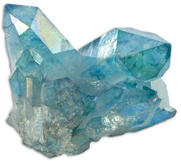 Cuarzo Aqua Aura azul