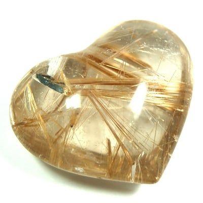 Cuarzo rutilado corazón
