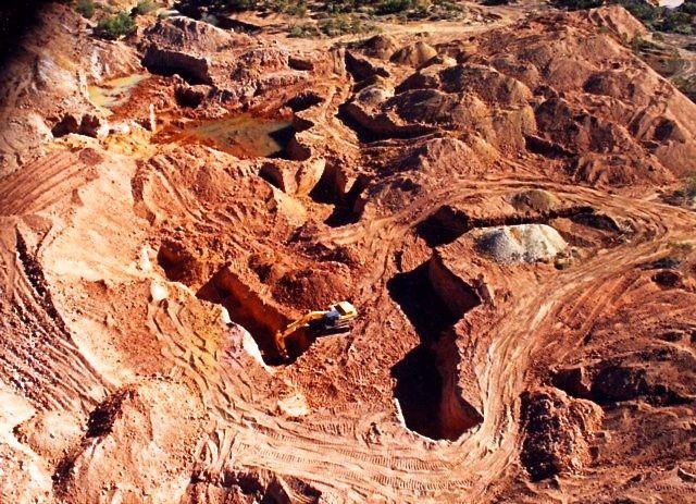 Mina de ópalo boulder