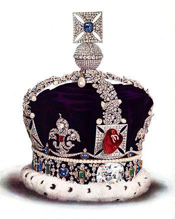 Corona con rubí del príncipe negro