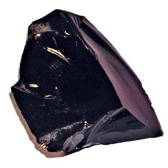 Piedra obsidiana en bruto
